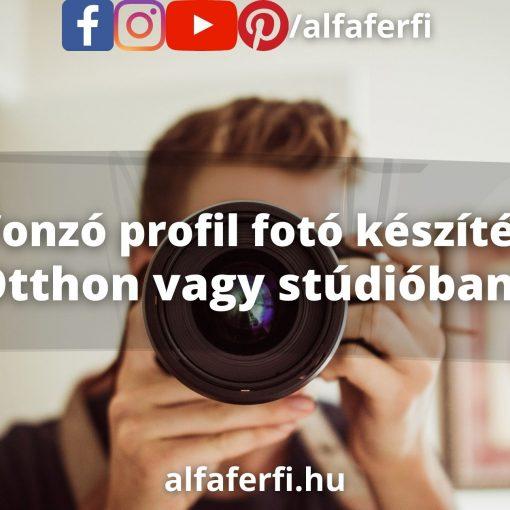 Profil fotó készítés - otthon vagy stúdióban?